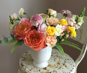 Vibrant Pastel Compote Arrangement in Toronto, ON | BOTANY FLORAL STUDIO