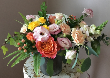 Vibrant Pastel Tin Arrangement