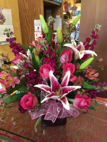Vibrant Pinks  Cube Arrangement