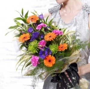 Vibrant Presentation Bouquet in San Mateo, CA | GREEN FASHION FLORIST