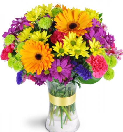Vibrant Rainbow of Colours  Vase
