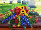 Vibrant Rememberance Casket Spray