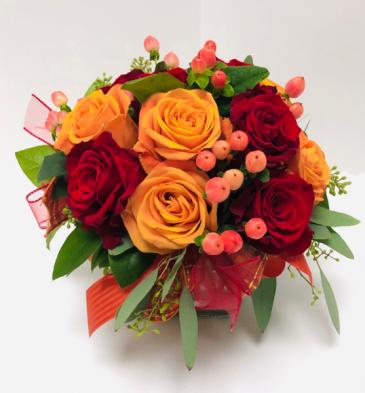 Vibrant Roses Vase Arrangement