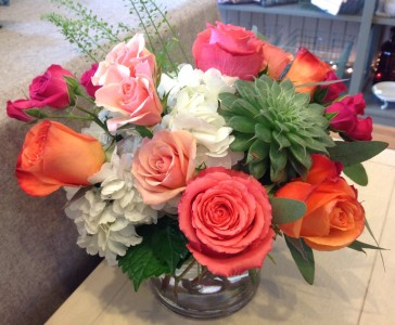 Vibrant Roses and Succulent Valentine's