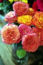 Vibrant Roses Vase