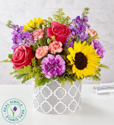 Vibrant Sensation Bouquet by Real Simple Spring Mix