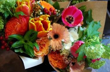 Vibrant Springtime Handtied Bouquet