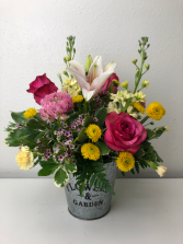 Vibrant Spring Variety Container Arrangement