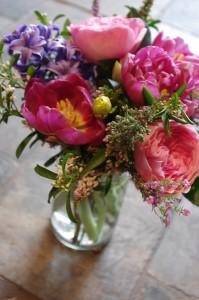 Vibrant Springtime  Mason Jar Arrangement