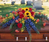Vibrant Summer Casket Spray Casket Spray