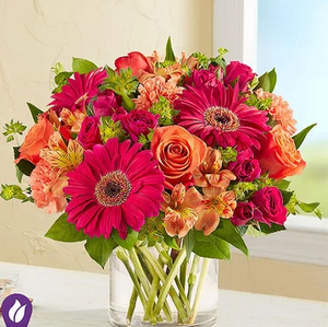 Vibrant Sunsets Mixed Floral Arrangement
