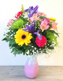 Vibrant Surprise  Vased Fresh Flowers