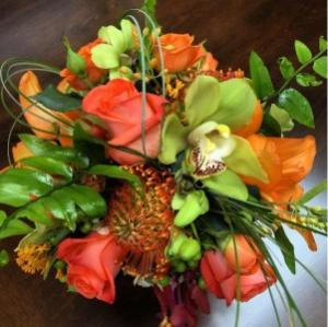 Vibrant & Tropical Wedding Bouquet in Sebastian, FL | PINK PELICAN FLORIST