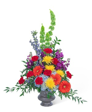 Vibrant Urn Sympathy in Nevada, IA | Flower Bed