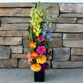 Vibrant Verticle Design Contemporary Arrangement