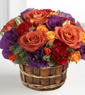 Vibrant Views™ Basket Flower Arrangement