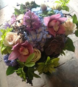 Vibrant Winter Garden Vase Arrangement