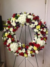 Vibrant Wreath Funeral Flower