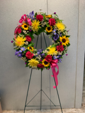 Vibrant Wreath Standing Wreath