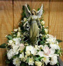 Victorian Angel with Floral Surround