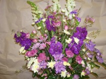victorian arrangment funeral  arrangement