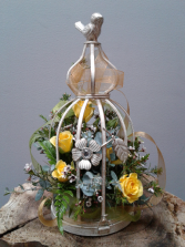 Victorian Bird Cage Lantern Keepsake Arrangement