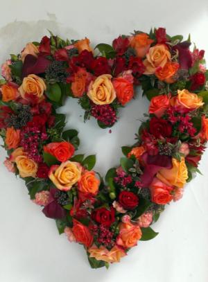 Victorian garden heart Lush garden style heart in Ozone Park, NY | Heavenly Florist