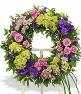 Victorian Garden Spray Wreath Wreath standing spraying