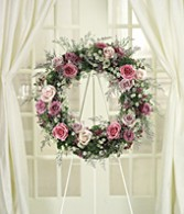 Victorian Rose Wreath Standing Spray
