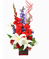 Victory Fireworks Vase Arrangement