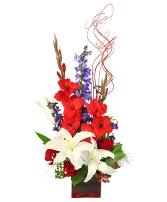 Victory Fireworks Vase Arrangement