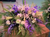 Victory In Jesus Casket Flowers