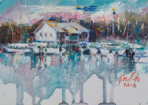 View from The Oar house ORIGINAL OIL BY NINA FRITZ