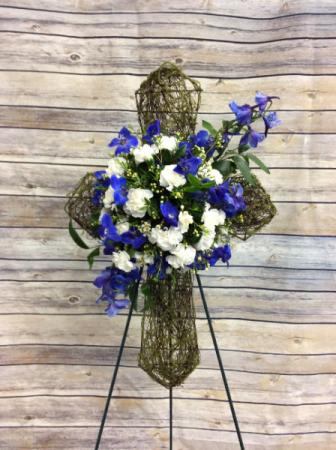 Vine Cross with Flowers