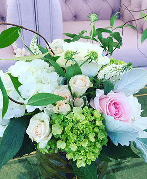 Vines of Ivory Pink Centerpiece in Ozone Park, NY | Heavenly Florist