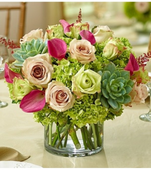 Vineyard Wedding Centerpiece in Croton On Hudson, NY | Cooke's Little Shoppe Of Flowers