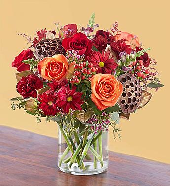 Vintage Autumn Blooms Arrangement