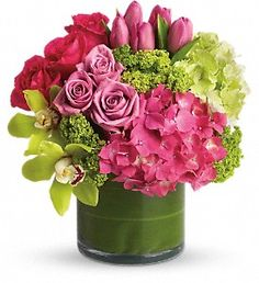 VINTAGE BLOOMS Hydrangea, Roses, Tulips & Orchids