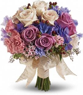 Vintage Blues Bridal Bouquet