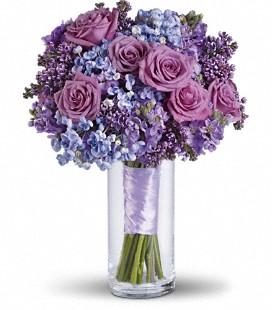 Vintage Blues Bridemaid bouquet