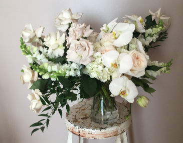 Vintage Blush  Vase Arrangement