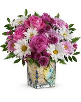 Vintage Butterfly Bouquet Flower Arrangement