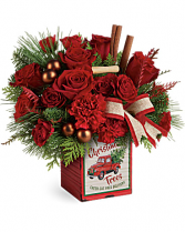 Vintage Christmas Truck Bouquet Christmas