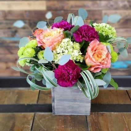 Vintage Crate Bouquet Flowers for All Occasions