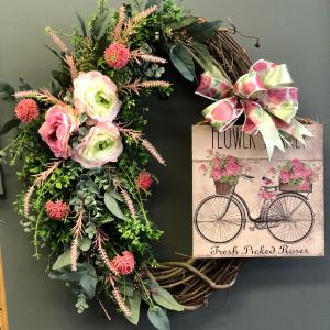Vintage Flowers Wreath  in Charlottesville, VA | PLANTSCAPES FLORIST INC
