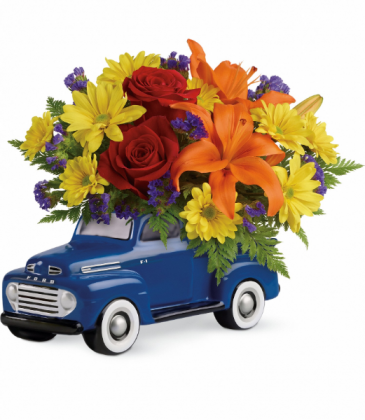 His Favorite Ford '48 F1 Pickup All-Around Floral Arrangement