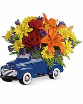 Vintage Ford Pickup Bouquet Valentine's Day