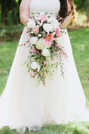 Vintage Garden Cascade Bridal Bouquet Cascading Bridal Bouquet in Tillamook, OR | ANDERSON FLORIST