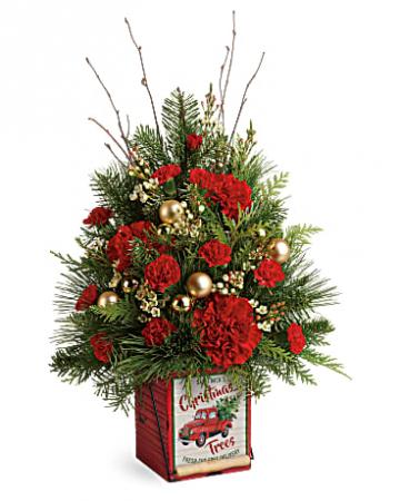 Vintage Greetings Tree floral arrangement