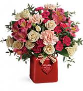 Vintage Heart Bouquet fresh arrangnment